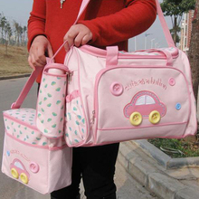4Pcs Large Capacity Baby Diaper Bag Set Stroller Mummy Maternity Nappy Bags Waterproof Handbag Set With Changing Pad for Baby 2017 functional maternidade bag baby diaper bags big capacity maternity bolsa nappy changing bags for mummy dots design