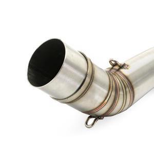 Image 4 - Motocicleta pcx150 pcx125 para honda pcx 125 pcx 150 2018 2019 17 silenciador tubo de escape sistema sem silenciador meados tubo