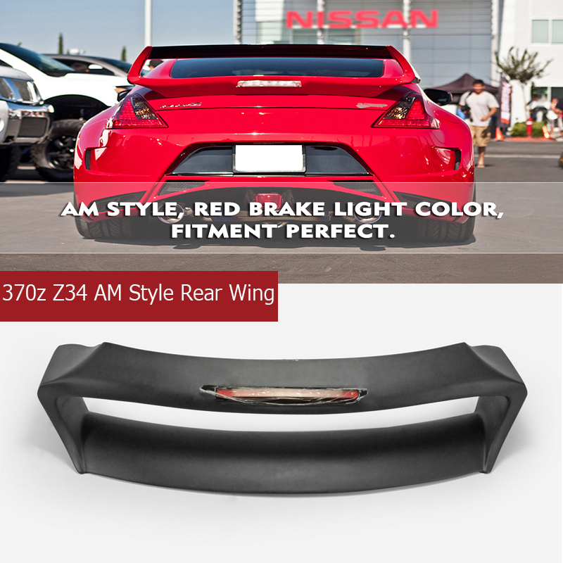 Автомобиль Запчасти 370Z Z34 FRP задний багажник спойлер на крыше для Nissan 370Z Z34 AM Стиль заднее крыло (с тормозом огни)