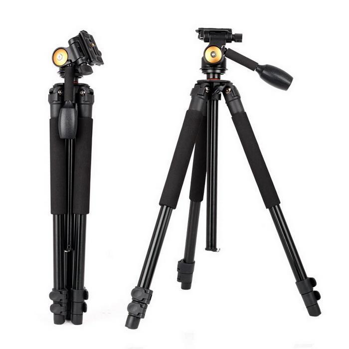 Profesional fotográfico portátil plegable telescópico antideslizante 44cm Cámara fotografía 3 secciones trípode - 6