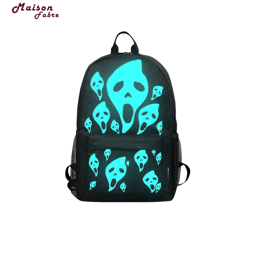 Maison Fabre Noctilucent Mens Backpack Anime Luminous Teenagers Men Womens Student Cartoon School Bags Casual Backpack 803 #23