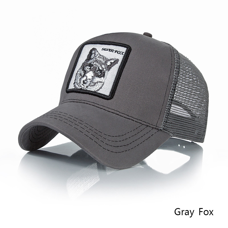 ab101a33 Fashion Embroidery Animal Baseball Caps Men Breathable Mesh Snapback Caps  Unisex Sun Hat For Women bone