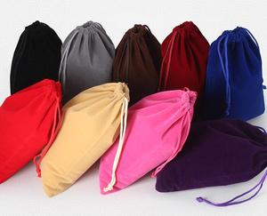 Image 5 - 20pcs/lot Large Big Size 25x35cm Muti colours Drawstring Velvet Bags Pouches Wedding Party Gift Packaging Bag Can Customize Logo