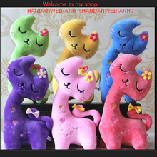 1PIECE High 20cm cartoon cute cat happy cat doll plush toys gift