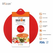 Liflicon 1pc 7(180mm)Glass Lids Premium Suction Pan Heat Resistant Silicone Spill Stopper Food Safe Kitchen Tool