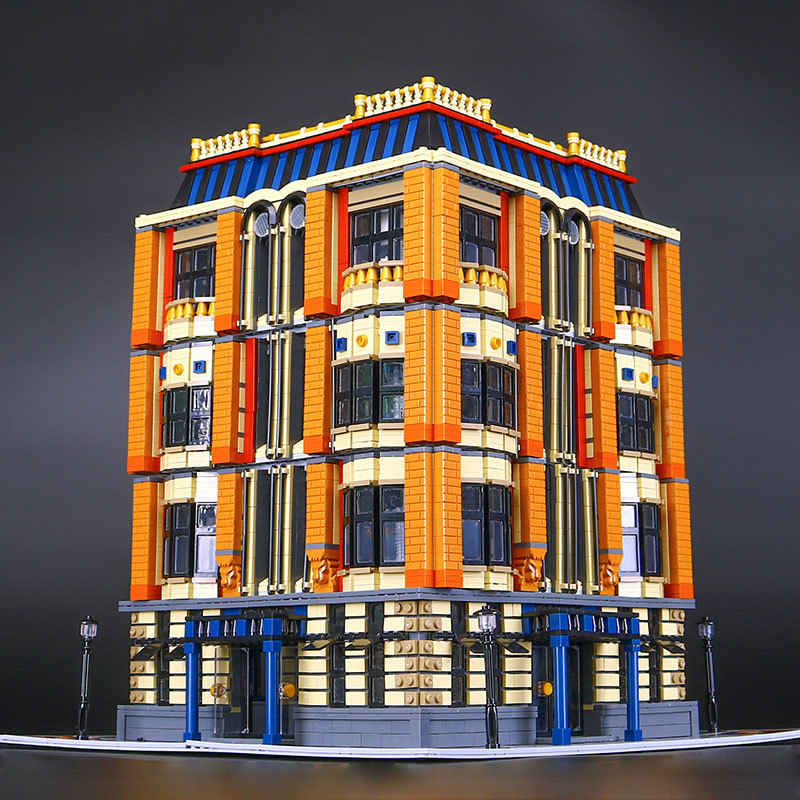 US $249 0 |Lepin 15016 Creator Expert Apple Square University Architecture  Building Blocks Model Creative Toys Compatible with Lego MOC-in Blocks from