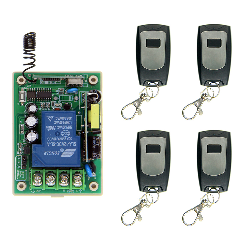30A 1 Channel 1CH Receiver Wireless Relay RF Remote Control Switch Module AC 85V -265V 110V 220V +Waterproof Transmitter light lamp led bulb wireless remote control switches rf ac 220 v 10 a 1 channel transmitter with mini sizes receiver module