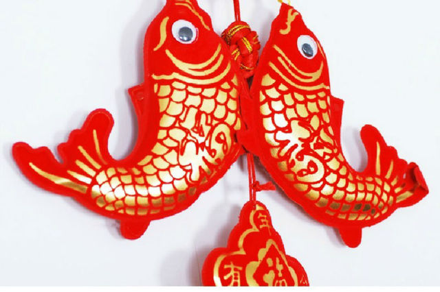 Jixiang Fu word Pisces Chinese knot New Year festive the word blessing decorative ornaments
