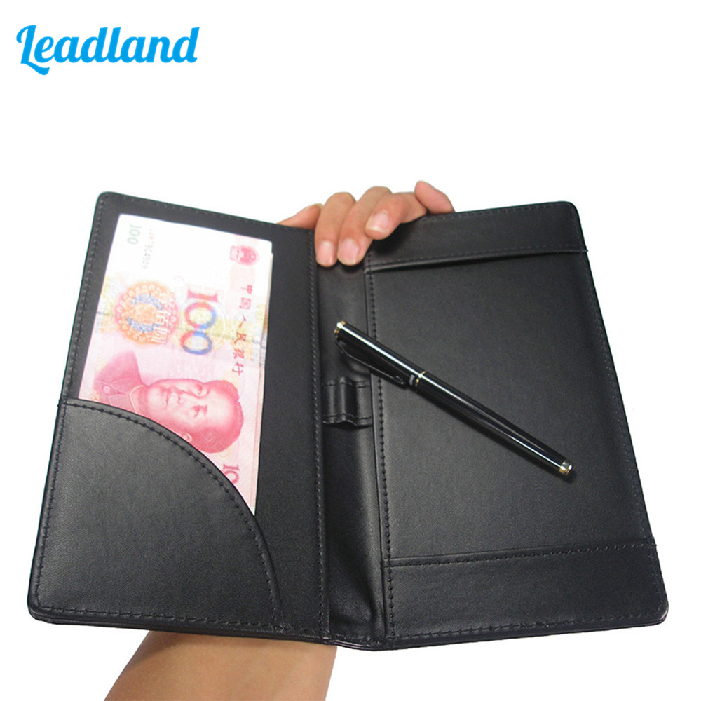 PU Leather Clipboard with Cash Pocket Pen Holder Invoice Padfolio For Restaurants or Cafe