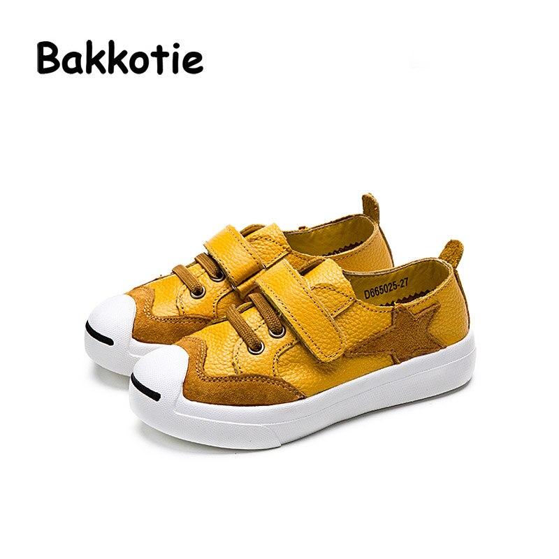 Bakkotie 2017 New Spring Fashion Genuine Leather Child Casual Sport Shoe Baby Boy Leisure Sneaker Kid