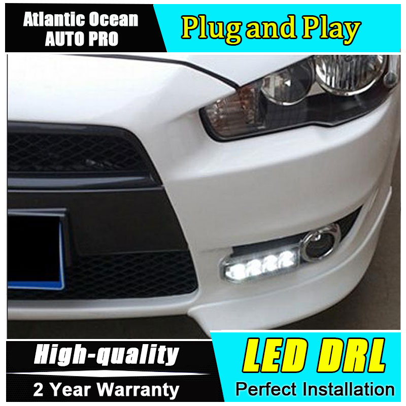 JGRT car styling For Mitsubishi Lancer-ex LED DRL ForLancer-EX led fog lamps daytime running light High brightness guide LED DRL