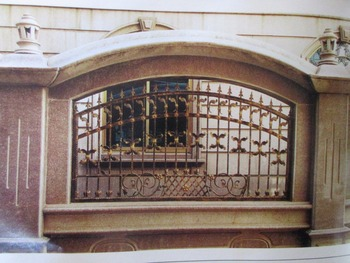 Hench 100% handmade forged custom designs wrought iron fences cost