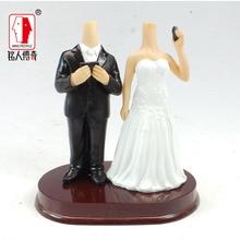 Wedding gift custom wedding Cake Topper Personalized Custom real doll custom clay dolls fixed resin body SR109