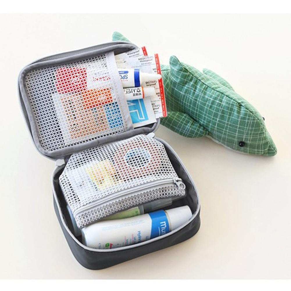 Adeeing Useful Portable Medical Kit Outdoor First-Aid Bag Carry-on Medicine Bag for Travel Business Trip Household Storage Bag