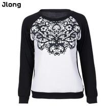 Autumn Women Europe America Loose Long Sleeve Lace Joint Blocking Color Shirts Sweatshirts Hoodies Casual Women Top