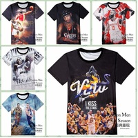High Quality Fashion Street Sports Jersey 3D Basketball Style Print Short Sleeve Round Neck Boy T