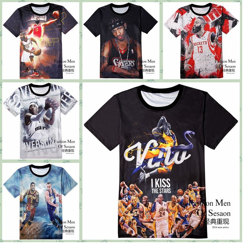 High quality fashion street sports jersey 3D basketball style print short sleeve round neck boy T shirt 11-19 years old active shirt