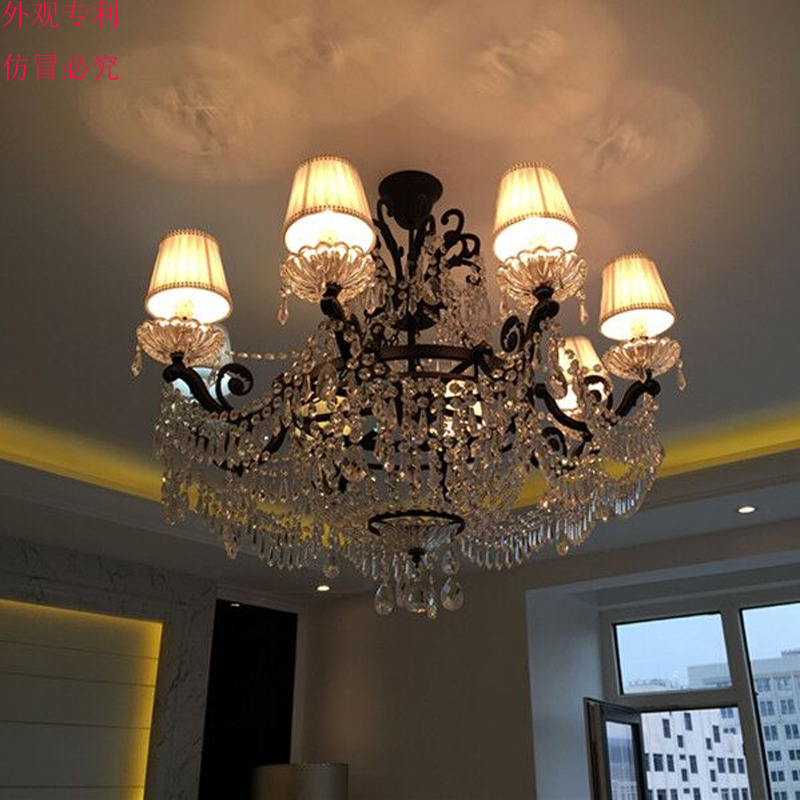 American Royal Classical Luxury Ceiling Chandelier black rustic iron chandelier crystal lighting contemporary crystal chandelier