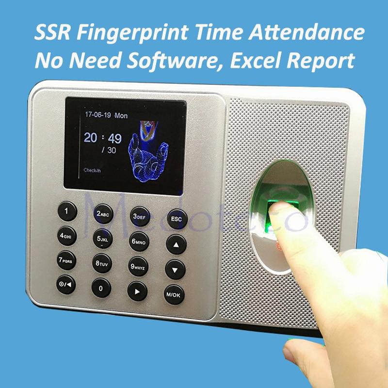 Wholesale 10pcs  SSR Fingerprint Time Clock ZK Auot Excel Report Time Attendance Employee Electronic Fingerprint Time Attendance