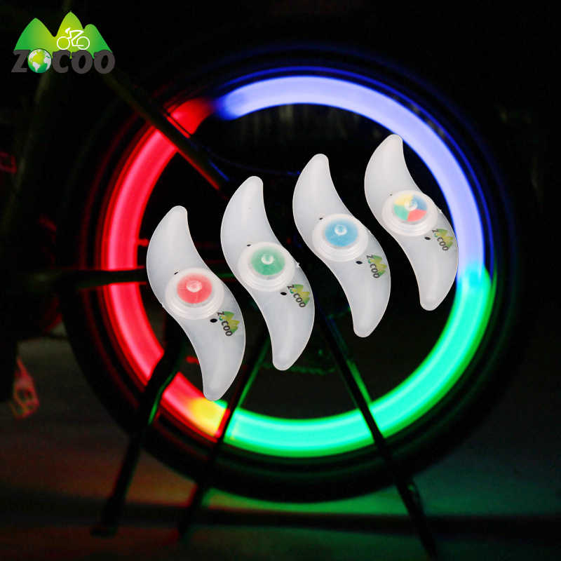 Zocoo With Bettery Bike Light Led Wheel Spoke lamp Cool Wire Tire Tyre Hot Wheel Bicycle bike Wheel Light Bicycle Accessories