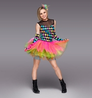 Children's Adult Jazz Dance Animal Costume Stage Play Costume Color Yarn Skirt Set
