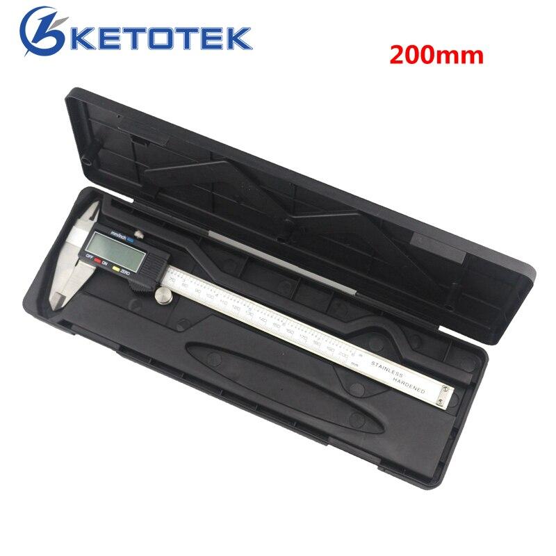 Elettronico Digitale Vernier Pinza 200mm 8 pollice In Acciaio Inox Pinza Calibro di Misurazione Ruller Diagnostico-tool 0.01mm Micrometro