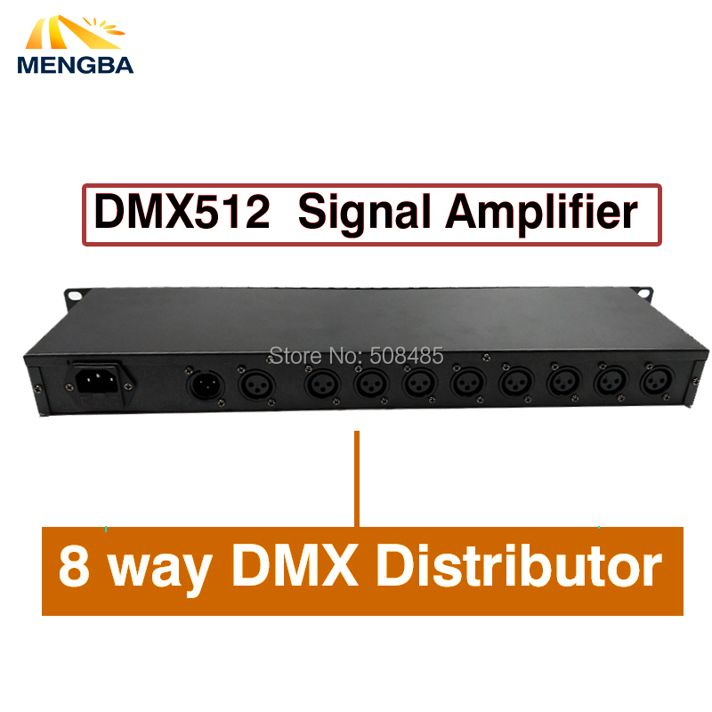 2018 2pcs/lot DMX512 Splitter Light Signal Amplifier Splitter 8 way DMX Distributor for stage Equipment Stage Light Controller dhl fedex free shipping best quality 8ch dmx splitter dmx512 light stage lights signal amplifier splitter 8 way dmx distributor