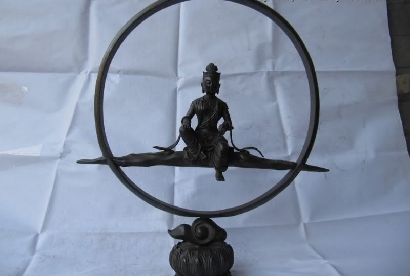 17Chinese Buddhism Fane Pure Bronze Freedom Kwan-Yin Bodhisattva Buddha Statue17Chinese Buddhism Fane Pure Bronze Freedom Kwan-Yin Bodhisattva Buddha Statue