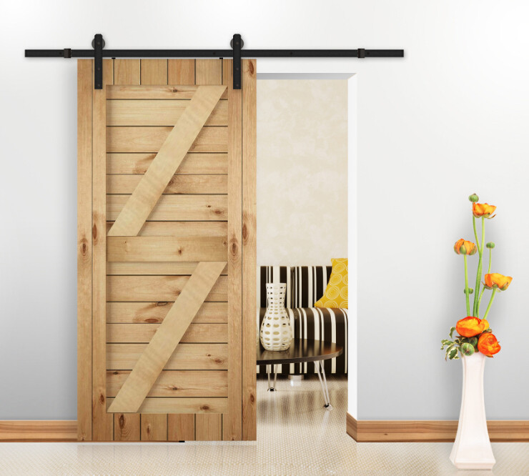 Online Shop Rustic Vintage Plate Sliding Barn Door Hardware Rustic Black Barn  Door Sliding Track System | Aliexpress Mobile