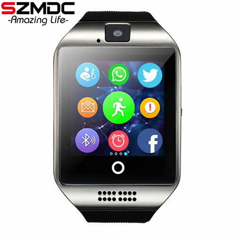 SZMDC Q18 Bluetooth Smart Watch With Camera facebook Sync SMS MP3 WristWatch Support Sim TF For IOS Android Phone pk GT08 DZ09 zaoyi dm09 bluetooth smart watch camera sedentary reminder bluetooth pedometer sleep monitor for ios android system pk dz09 gt08