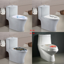 4 Types WC Sticker Hole View Vivid Pedestal Pan Cover Sticker Toilet Stool Commode Wall Sticker Home Decor Bathroom Decor