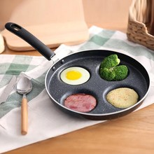 Four-hole Omelet Pan for Eggs Ham PanCake Maker Frying Pans Creative Non-stick Breakfast Grill Pan Kitchen Cookware