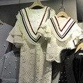 2016 Vestidos de Encaje de Ganchillo Con Cuello En V Madre Hija Madre e Hija Ropa A Juego Mujeres Niñas Mini Vestidos de Ropa de la Familia