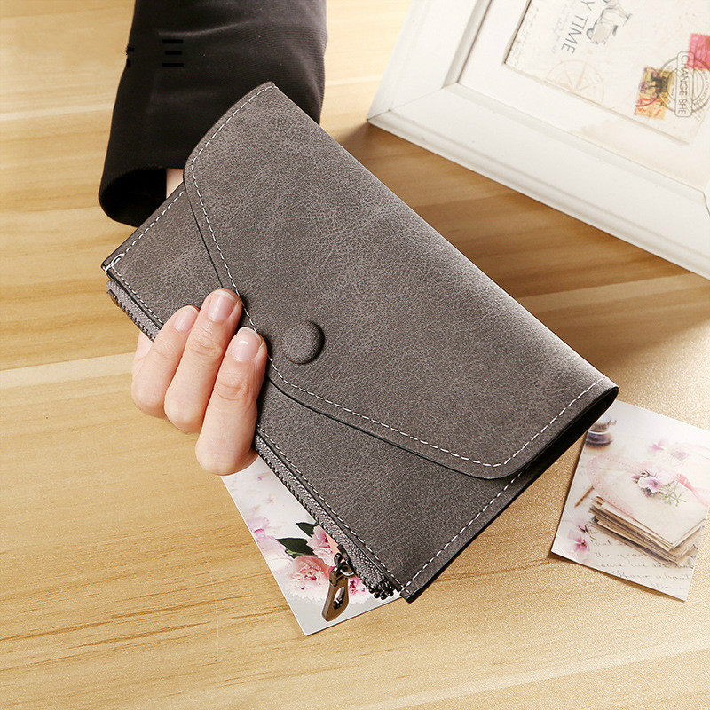 ETya PU Leather Women Wallets Long Purse Female Fashion Cards Holder Clutch Standard Wallet High Quality Small Phone Bags