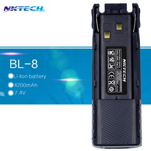 For Walkie Talkie baofeng Pofung UV-82 UV-82L UV82 UV82L 7.4V 4200mAh Extended Battery Accessories Ham Two Way Radio NKTECH