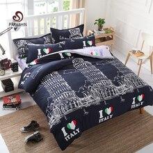 Ropa de Cama Set Amo ITALIA Torre inclinada de Pisa Funda Nórdica Set Full Twin Queen Rey ropa de Cama de impresión Activa 4 unids Ropa de Cama