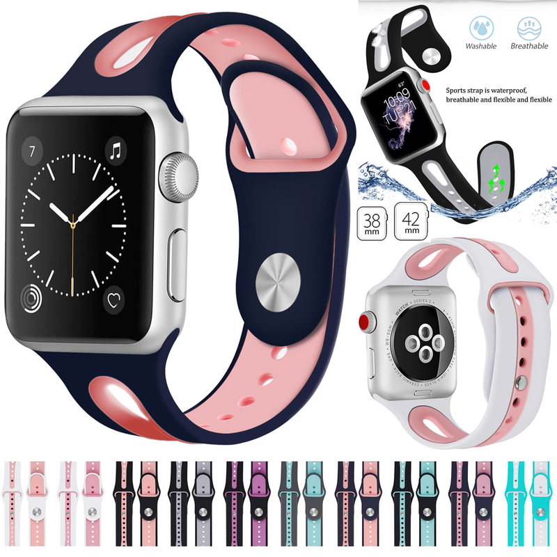 Watch Band For Apple Watch 42mm 38mm 44mm 40mm Silicone Bands Strap Bracelet Belt For iWatch Series 5/4/3/2/1 Watch Accessories