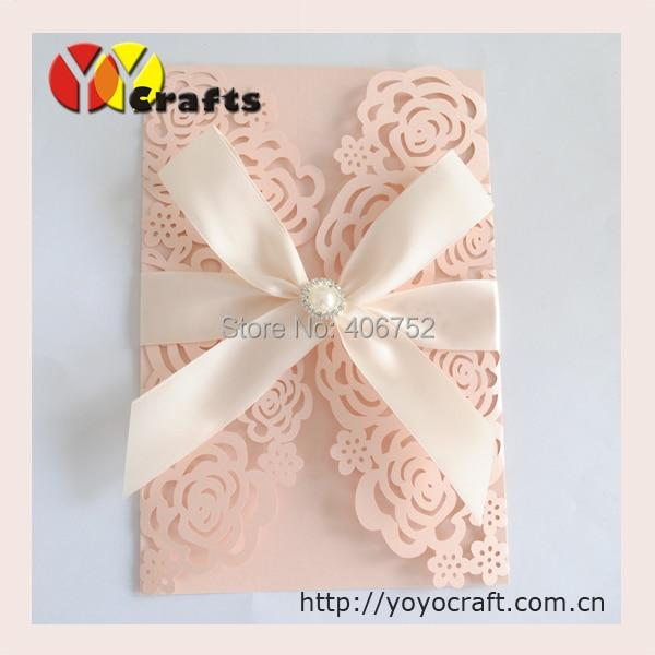 Luxurious Invitation Card Design Handmade Laser Cut Wedding