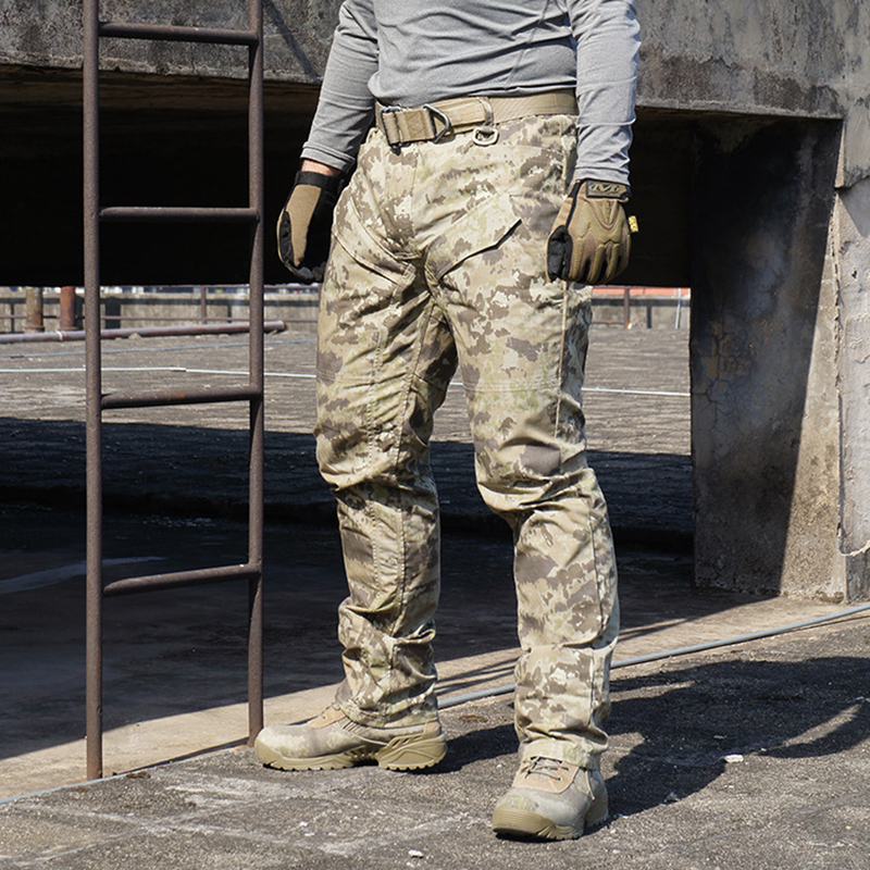 Moss Lichen Sand Moce All Terrain Iron Steel Outdoor Camo Creeper Duty Pants Tactical Outdoor Trousers / Camo Tactical Pants