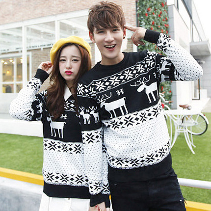 Couples Christmas Sweaters.Us 21 98 Couple Christmas Sweaters Matching Christmas Sweaters Couple Clothes Couples Matching Clothing For Couples Marca Marque 3743 In Pullovers