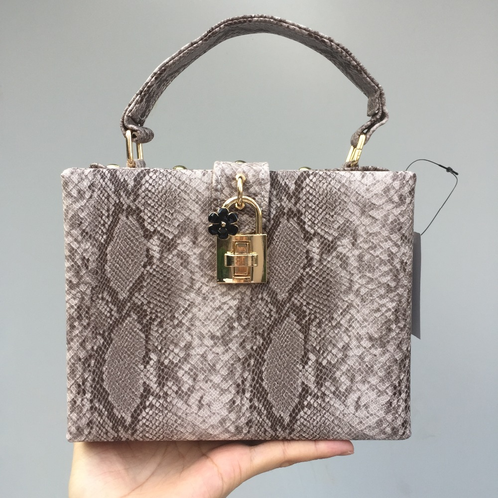 DAIWEI New Womens Fashion Small Handbag/Shoulder bag/Box/Bag Snakeskin grain PU leatherette All Seasons Casual Outdoor Office