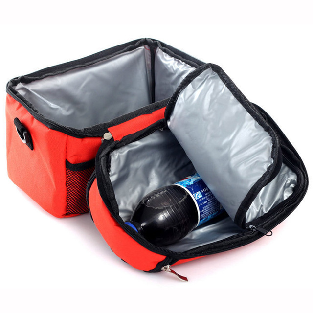 Portable Shoulder Lunch Box Picnic Bag Thermal Cooler Insulated Pouch Food Warmer Camping Kit