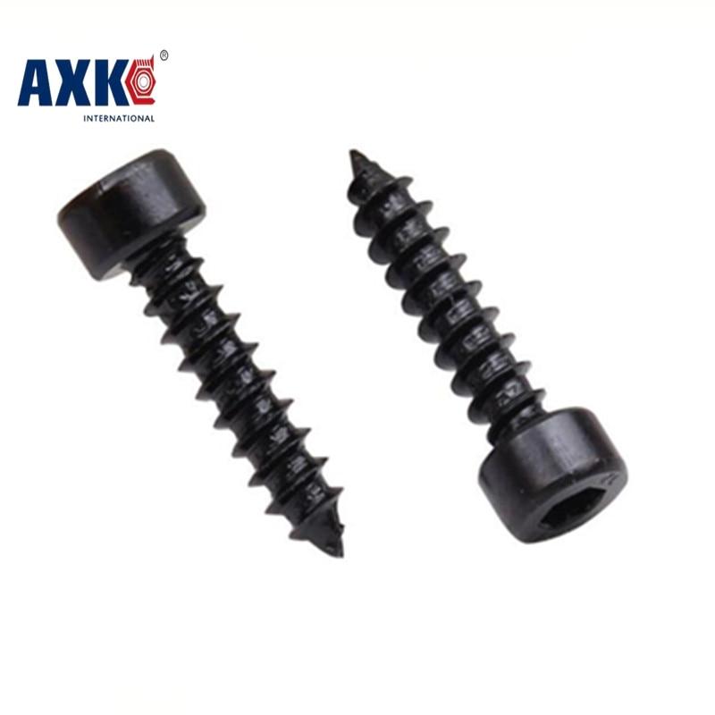AXK 100pcs M3 Carbon Steel With Black Hexagon Socket Cap Head self tapping screw Model Screw M3*(6/8/10/12/16/20/25/30) mm 8 8 hexagon socket screw model self tapping screw speaker speaker m5 10 12 14 16 18 20 25 30 35 40 45 50