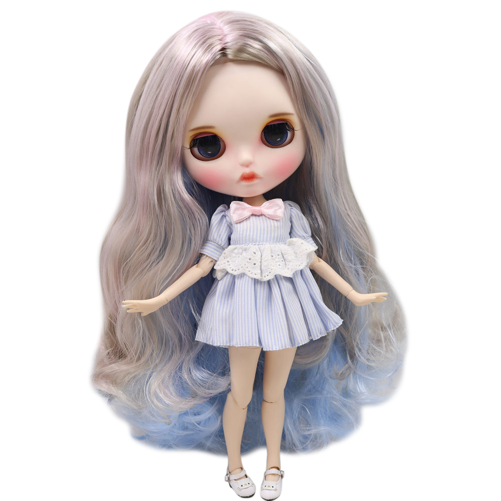 ICY Nude Blyth Doll Series No BL1017 8800 6005 Ice Cream hair color Carved lips Matte