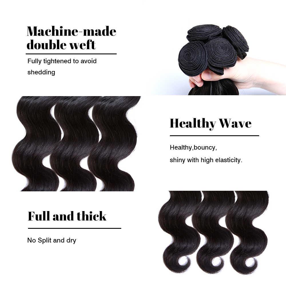 גל גוף פרואני 100% שיער אדם מוצרי שיער חתול MS לארוג שיער רמי שחור טבעי יכול להיות צבוע ומולבן חבילות