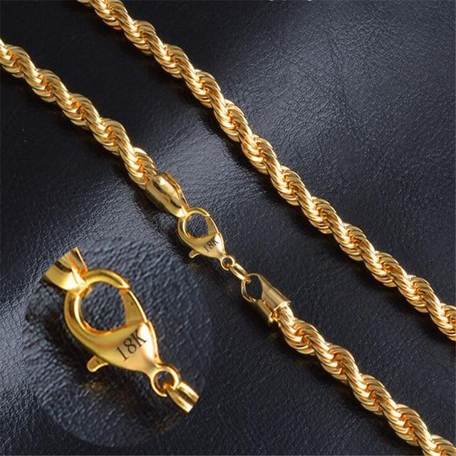 Modeschmuck gold kette  Aliexpress.com : Gold kette halskette heißer halskette modeschmuck ...