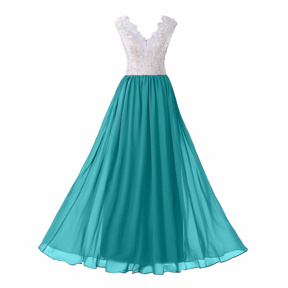 Peacock Women\'s V Neck Custom Made Lace Prom Dress Real Photos White ...