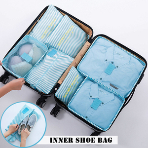Image 2 - RUPUTIN 7Pcs/set Trip Luggage Organizer Clothes Finishing Kit Storage Bag Cosmetic toiletrie Storage Bag Home Travel Accessories