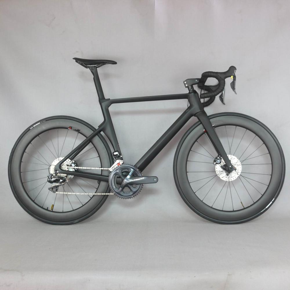 2019 диск углеродный дорожный велосипед Полный велосипед углеродный с SH1MANO R8070 DI2 groupset DT350 ступицы колеса.