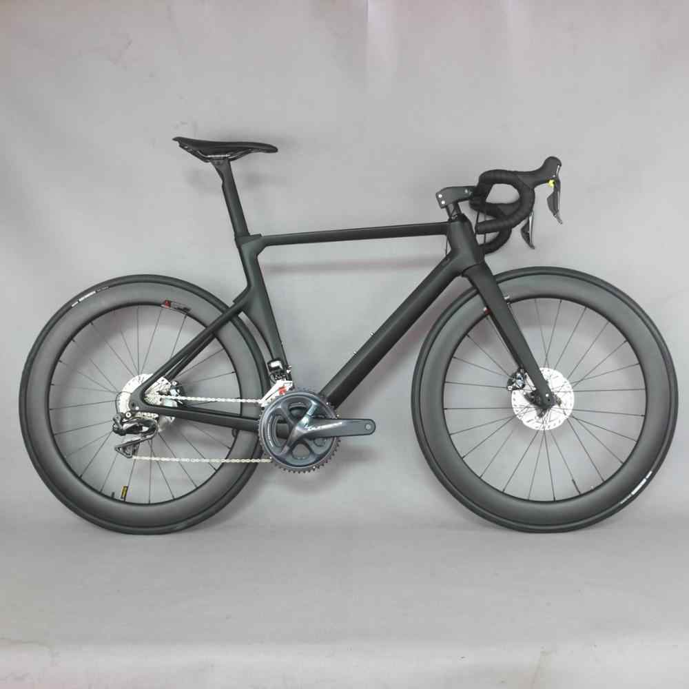2019 disco de carbono bicicleta de carretera carbono completo bicicleta con SH1MANO R8070 DI2 grupo DT350 rueda con buje.